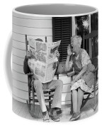 1970s Elderly Couple In Rocking Chairs Coffee Mug
