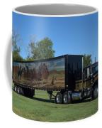 Smokey And The Bandit Tribute 1973 Kenworth W900 Black And Gold Semi Truck Coffee Mug
