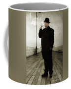 50s Detective Smoking Pipe Coffee Mug