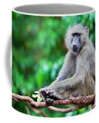 A Baboon In African Bush Coffee Mug