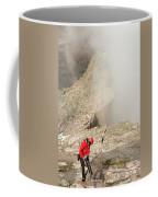 A Climber Descending Longs Peak Coffee Mug