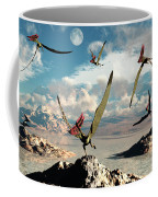 A Flock Of Thalassodromeus Pterosaurs Coffee Mug
