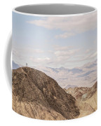 A Hiker Stands On A Peak Coffee Mug