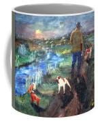 A Man And His Dogs Coffee Mug