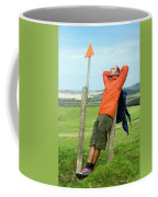 A Man Enjoying A Moment Of Rest Coffee Mug
