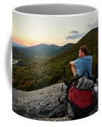 A Man Hikes Along The Appalachian Trail Coffee Mug