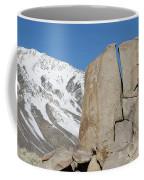 A Man Sport Climbs In Bishop Coffee Mug