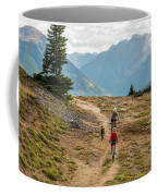 A Mother And Daughter Mountain Biking Coffee Mug