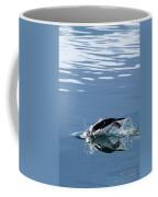 A Penguin Swims Through The Clear Coffee Mug