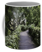 A Raised Walking Path Inside The National Orchid Garden In Singapore Coffee Mug