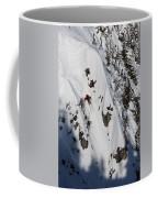 A Telemark Skier In A Narrow Chute Coffee Mug