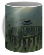 A Ufo & Its Alien Crew Visiting Coffee Mug
