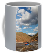 A Whitewater Rafters Rows His Boat Coffee Mug