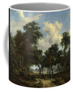A Woody Landscape With A Cottage Coffee Mug