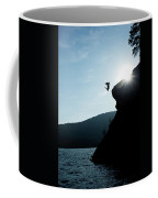 A Young Man Flips Off A Rock Coffee Mug