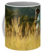 A Young Man Fly-fishing At Sunset Coffee Mug