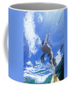 A Young Man Stand-up Paddleboards Coffee Mug