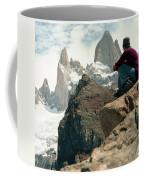 A Young Woman Gazes At Cerro Fitzroy Coffee Mug