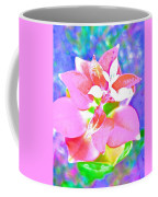 Abstract Colorful Plant Coffee Mug