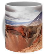 Active Volcanoe Cone Of Mt Ngauruhoe New Zealand Coffee Mug