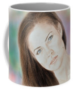 Actress And Model Susan Ward Blue Eyed Beauty With A Mole Coffee Mug