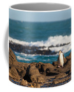 Adult Nz Yellow-eyed Penguin Or Hoiho On Shore Coffee Mug