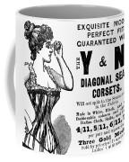 Advertisement Corset Coffee Mug