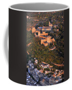 Aerial Photo  Alhambra And Albaycin In Granada Coffee Mug