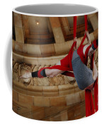 Aerial Ribbon Performer At Pennsylvanian Grand Rotunda Coffee Mug