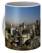 Aerial View Of Skyscrapers In A City Coffee Mug