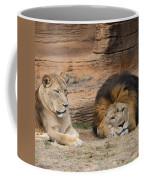 African Lion Couple 3 Coffee Mug