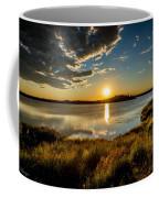 Alaskan Midnight Sun Over The Lake Coffee Mug