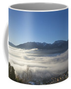 Alpine Village Under Sea Of Fog Coffee Mug