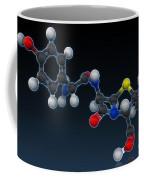 Amoxicillin Molecular Model Coffee Mug