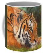 Amur Tiger Coffee Mug by David Stribbling