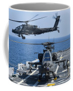 An Army Ah-64d Apache Helicopter Takes Coffee Mug