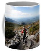 An Athletic Female Hiker Hikes Coffee Mug