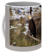 An Eagle Perched   Coffee Mug