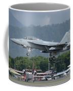An Fa-18 Super Hornet Of The U.s. Navy Coffee Mug