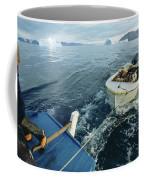 An Inuit Hunter Ferries His Sled Dogs Coffee Mug