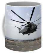 An Mh-53e Sea Dragon Prepares To Land Coffee Mug