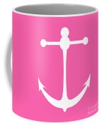 Anchor In Pink And White Coffee Mug