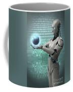 Android Holding Globe Coffee Mug