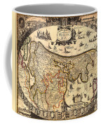 Antique Map Of Holland 1630 Coffee Mug