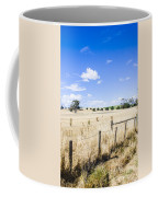 Arid Agricultural Landscape In South Tasmania Coffee Mug