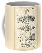 Artificial Bait Patent 1923 - Vintage Coffee Mug