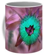 Artistic Bottle Brush Flower Coffee Mug