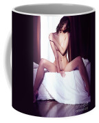 Artistic Portrait Of Beautiful Naked Asian Woman Sitting Naked O Coffee Mug