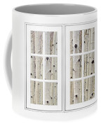 Aspen Forest White Picture Window Frame View Coffee Mug