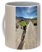 Attractive Woman Riding Her Mountain Coffee Mug